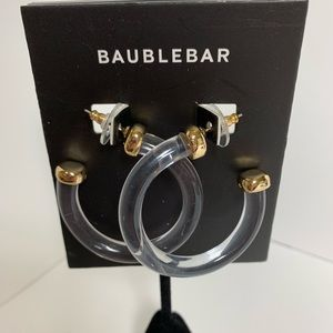 BaubleBar Clear Hoops